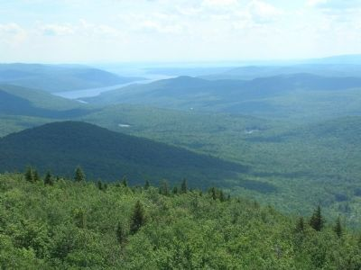View From Hadley Mountain Fire Tower image. Click for full size.