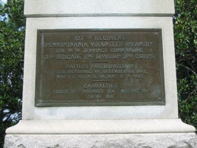 127th Regiment Pennsylvania Volunteer Infantry Monument image. Click for full size.