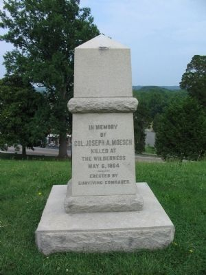 Front of the Col. Joseph A. Moesch Monument image. Click for full size.