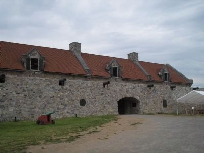 Entrance to Fort Ticonderoga image. Click for full size.