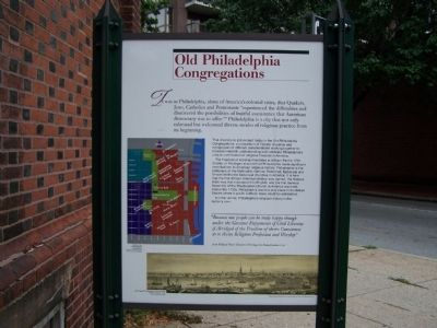 Old Philadelphia Congregations Marker image. Click for full size.