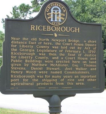 Riceborough Marker image. Click for full size.