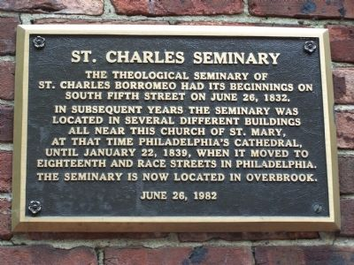 St. Charles Seminary Marker image. Click for full size.