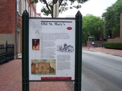 Old St. Mary's Marker image. Click for full size.