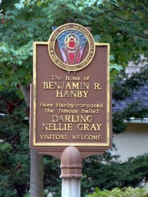 The Home of Benjamin R. Hanby Marker image. Click for full size.
