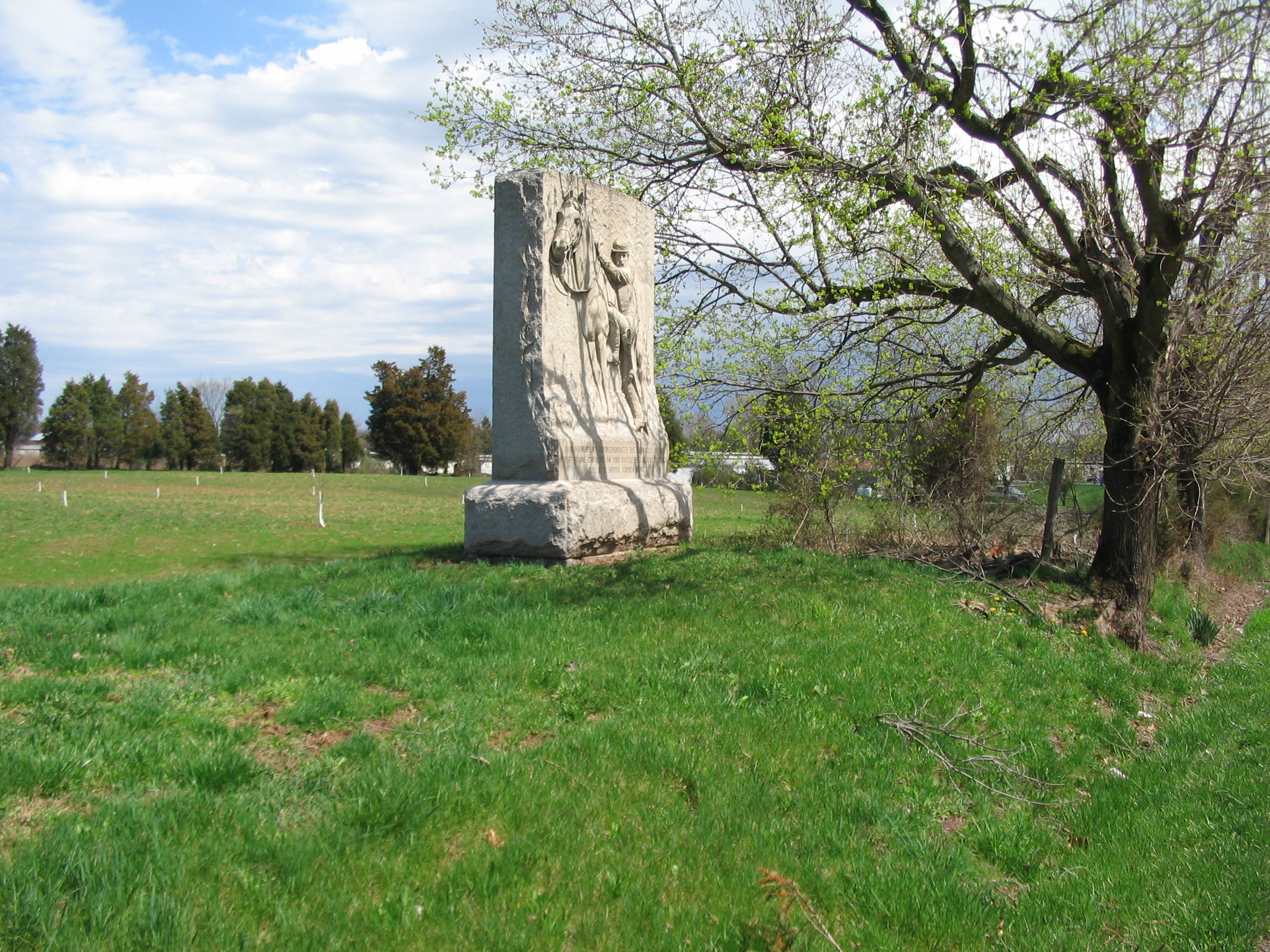 First Maine Cavalry Monument Seen from the Hanover Road