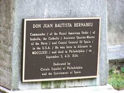 Don Juan Bautista Bernabeu Plaque image. Click for full size.