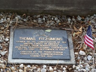 Thomas Fitzsimons Plaque image. Click for full size.