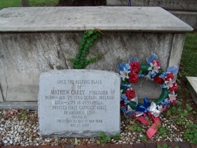 Mathew Carey, Publisher Marker image. Click for full size.