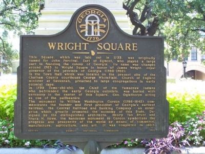 Wright Square Marker image. Click for full size.