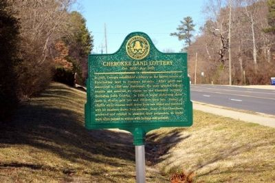 Cherokee Land Lottery Marker image. Click for full size.