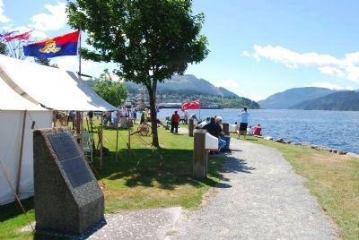 Markers along Alberni inlet image. Click for full size.