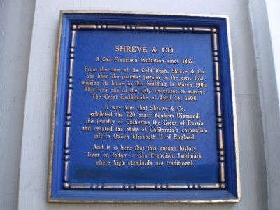 Shreve & Co. Marker image. Click for full size.