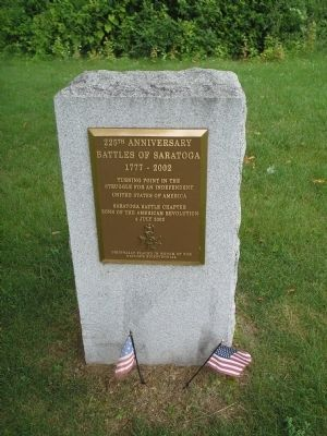 225th Anniversary Battles of Saratoga Marker image. Click for full size.