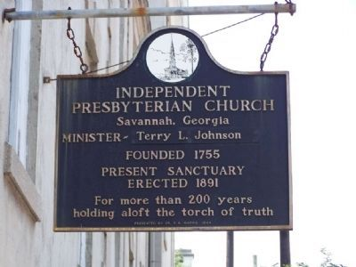 Independent Presbyterian Church Marker at the Present Sanctuary image. Click for full size.