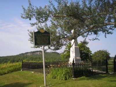 Marker in Hubbardton image. Click for full size.