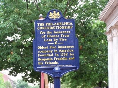 The Philadelphia Contributionship Marker image. Click for full size.