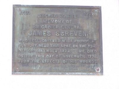 James Screven and Daniel Stewart Marker image. Click for full size.