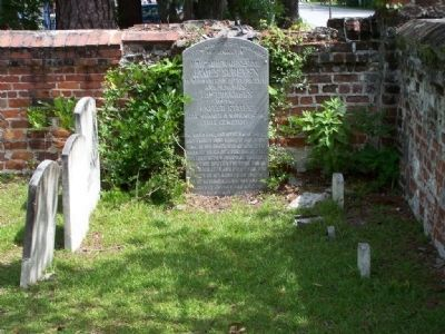 James Screven Marker in Midway Church Cemetery image. Click for full size.