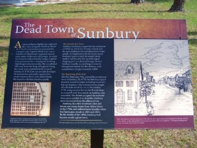The Dead Town Of Sunbury Marker image. Click for full size.