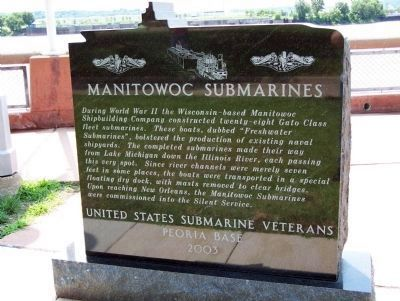 Manitowoc Submarines Marker - - Side One image. Click for full size.