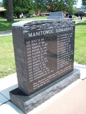Manitowoc Submarines Marker - - Side Two image, Touch for more information