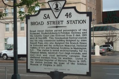 Broad Street Station Marker image. Click for full size.