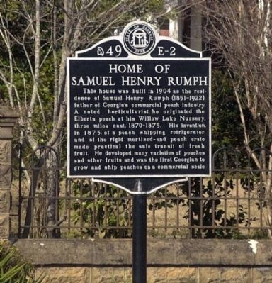 Home of Samuel Henry Rumph Marker image. Click for full size.