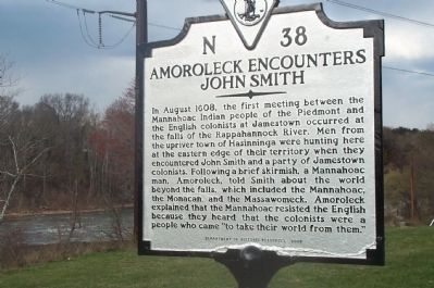 Amoreleck Encounters John Smith Marker image. Click for full size.