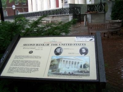 Second Bank of the United States Marker image. Click for full size.