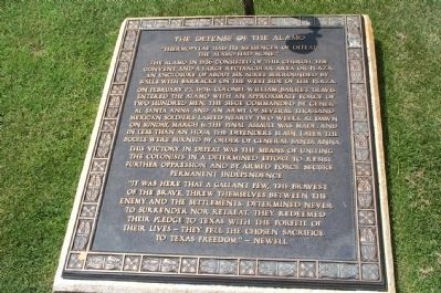 The Defense of the Alamo Marker image. Click for full size.