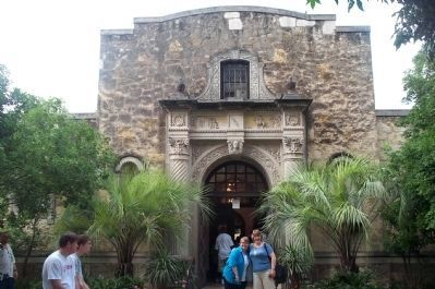 Entrance to The Alamo's Gift Shop. image. Click for full size.