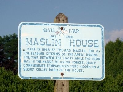 Maslin House Marker image. Click for full size.