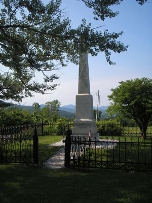 Hubbardton Battle Monument Marker image. Click for full size.