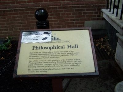 Philosophical Hall Marker image. Click for full size.