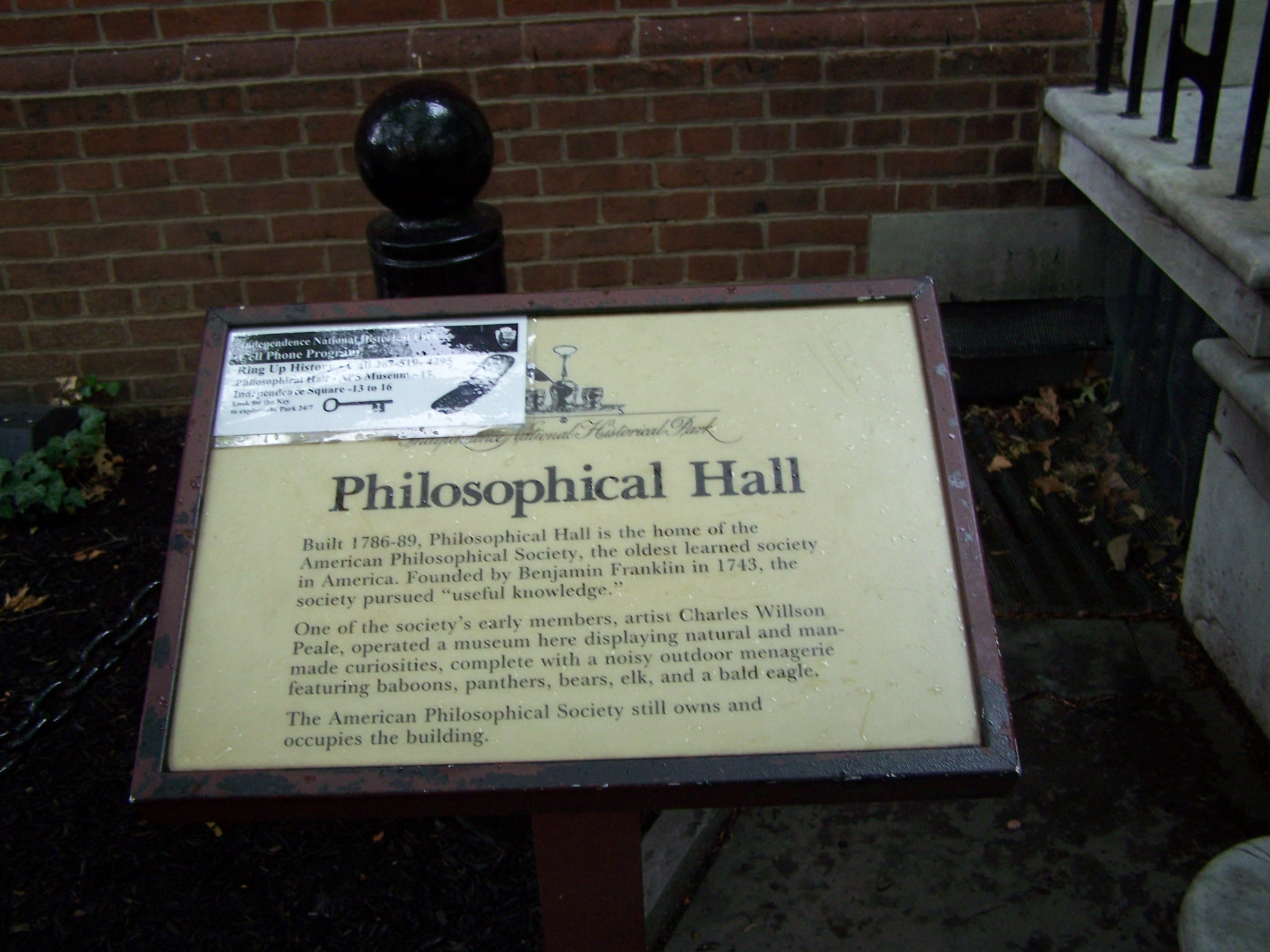 Philosophical Hall Marker