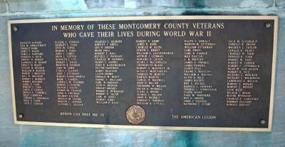 "Montgomery County's Tribute to her Heroic Dead - ""World War II"" image. Click for full size."