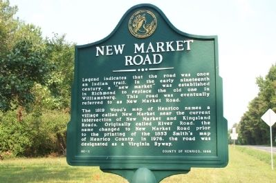New Market Road Marker image. Click for full size.