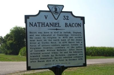 Nathaniel Bacon Marker image. Click for full size.