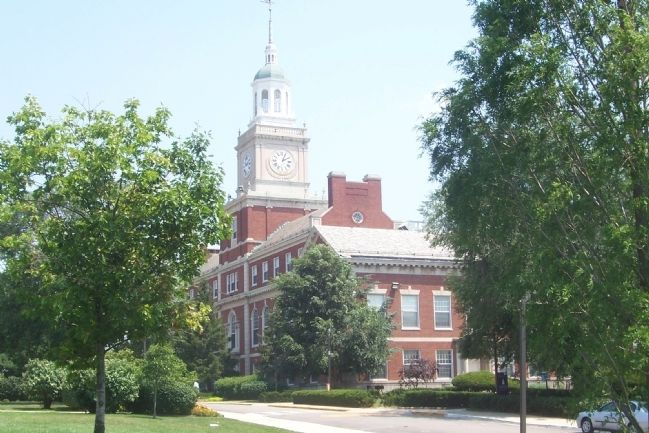 Founder's Library, another National Historic Landmark on Howard University image. Click for full size.