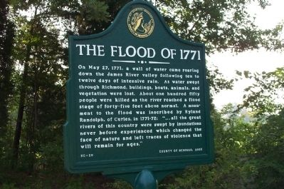 The Flood of 1771 Marker image. Click for full size.