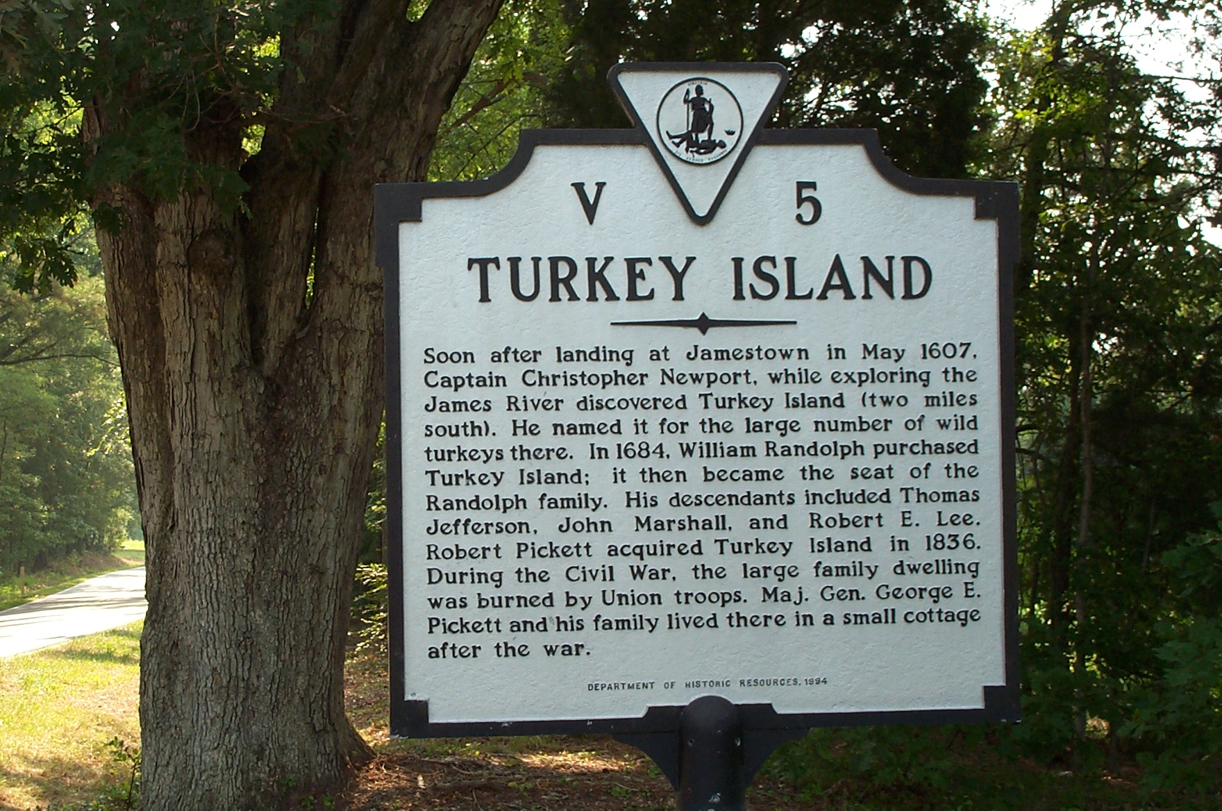 Turkey Island Marker