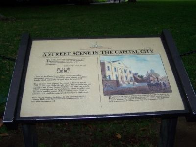 A Street Scene in the Capital City Marker image. Click for full size.