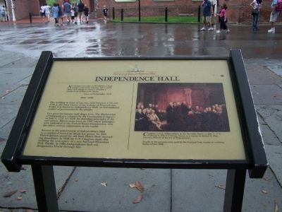 Independence Hall Marker image. Click for full size.