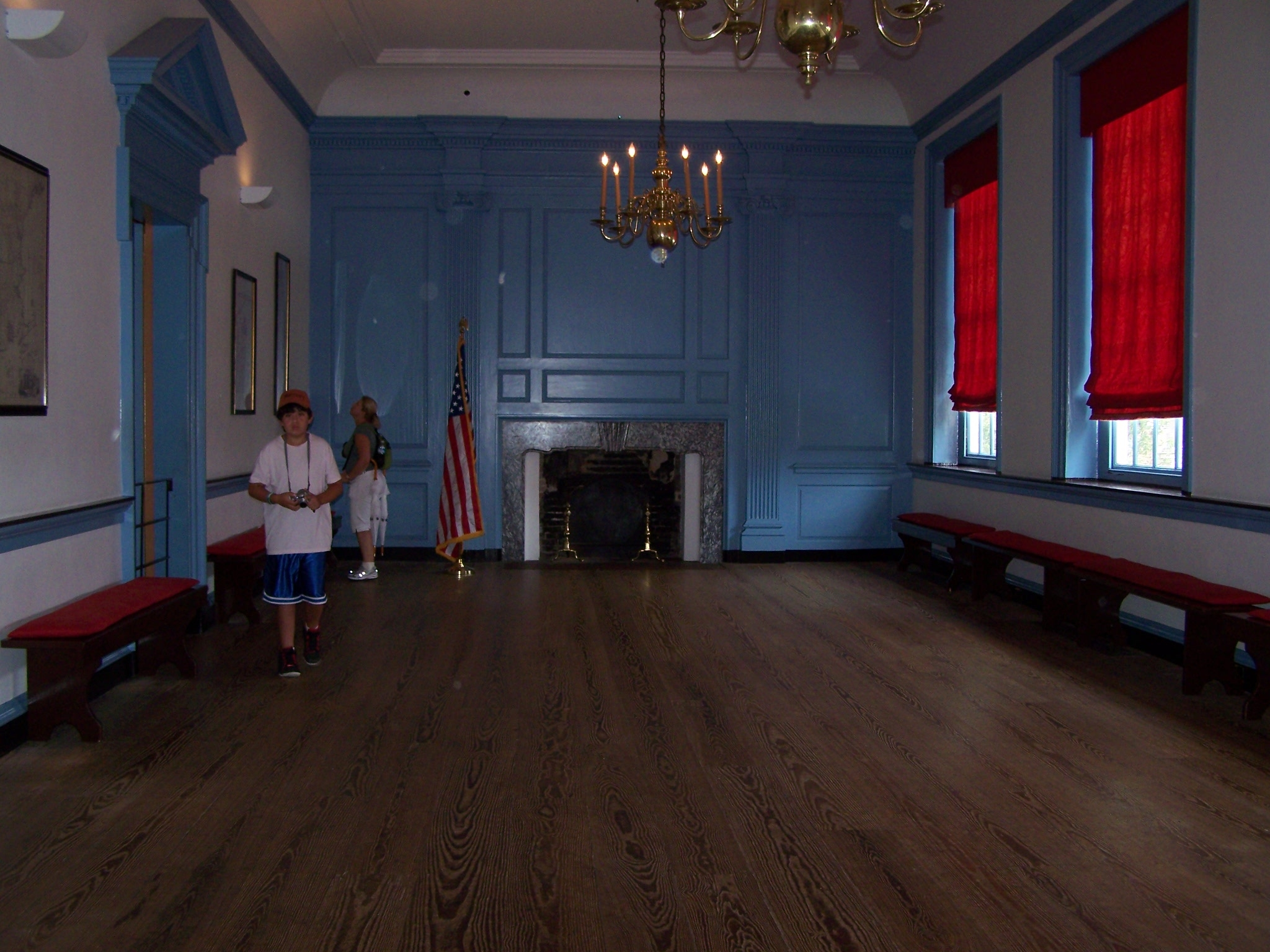 The Long Gallery on the second floor of Independence Hall