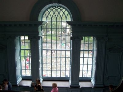 Center window from the stairway to the second floor. image. Click for full size.