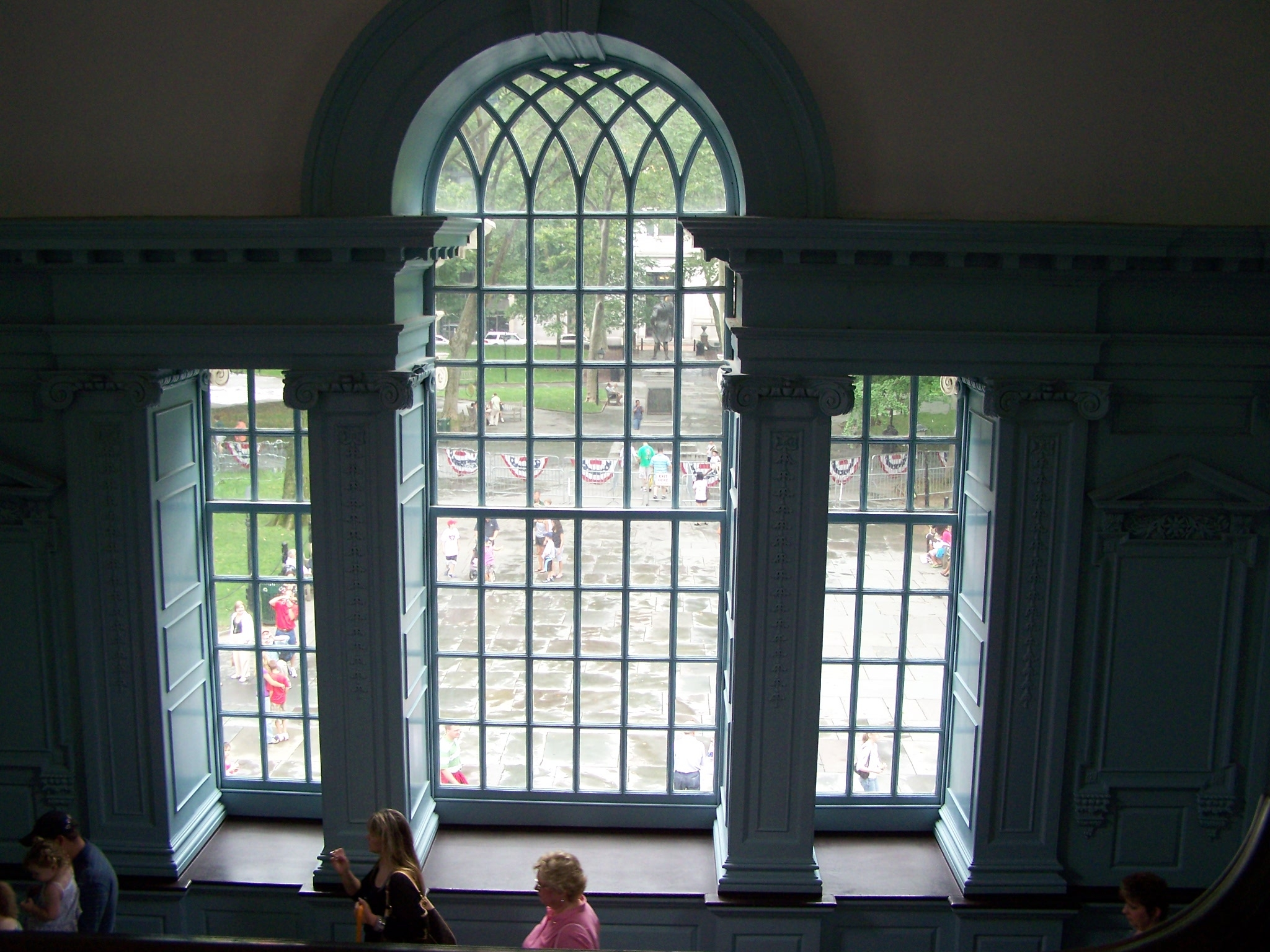 Center window from the stairway to the second floor.