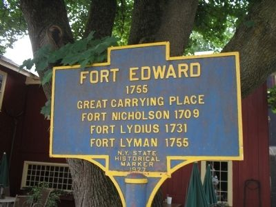 Fort Edward Marker image. Click for full size.
