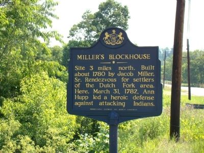 Miller's Blockhouse Marker image. Click for full size.