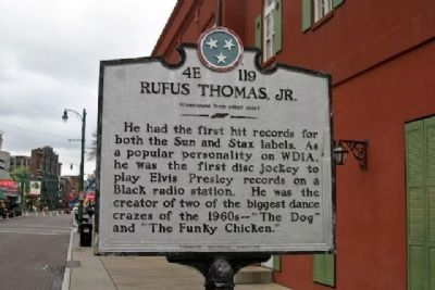 Rufus Thomas, Jr. Marker image. Click for full size.